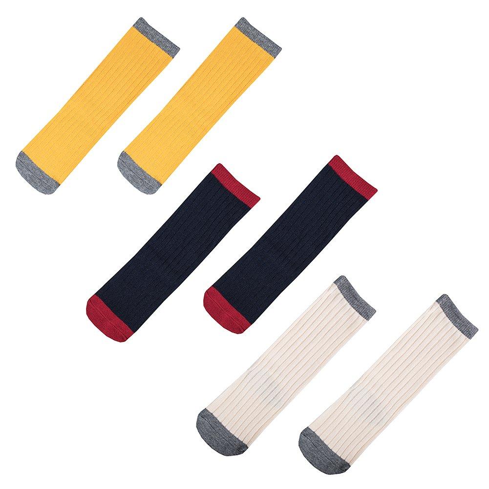 【年中無休】 LALUNA子供用幼児用コットンストッキングKnee High High Long Socks Assorted Blue+yellow+white Colors 3ペアパック Assorted S Navy Blue+yellow+white B01N4046CI, Haibiハイビー インターナショナル:2c9ed160 --- domaska.lt
