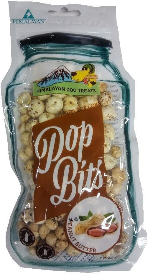 Himalayan Corporation 531015 2.5 Oz Peanut Butter Pop Bits Dog Treats