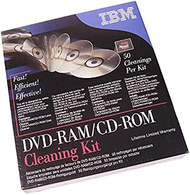 Amazon.com: IBM DVD-Ram CD-Rom Cleaning Kit Retail 19P0489 ...