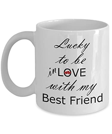 Amazoncom Lucky To Be In Love With My Best Friend Mug Kitchen