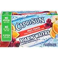 Capri Sun Roarin' Waters Flavored Water Beverage, Fruit Punch, 6 Fl oz, 10 Pouches (Pack of 4)
