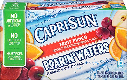 Fruit Flavored Beverage - Capri Sun Roarin' Flavored Water Beverage, Fruit Punch, 60 Ounce