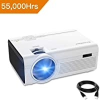 Vidéoprojecteur Crosstour LED Mini Projecteur Portable Retroprojecteur Multimédia Home Cinéma Full HD Pordinateur (P600)