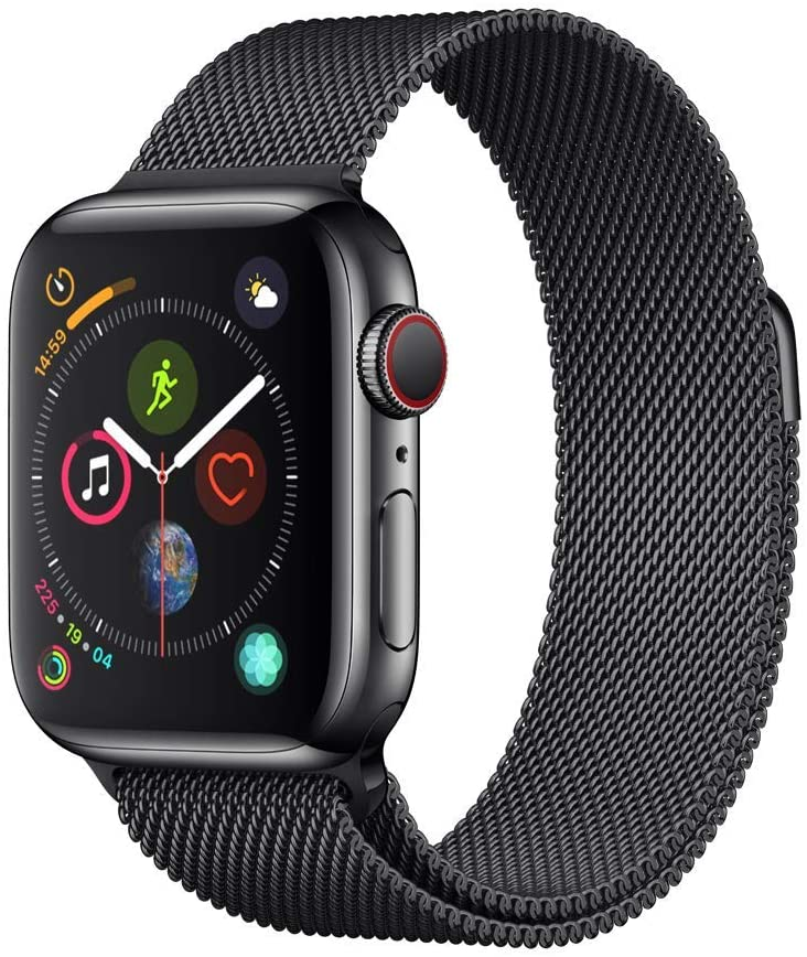 Apple Watch Series 4 (GPS + Cellular, 40mm) - Space Black Stainless Steel Case with Space Black Milanese Loop