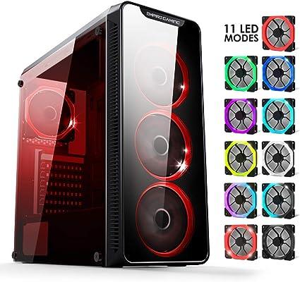 EMPIRE GAMING Warmachine - Caja PC Gamer –Torre Mediana ATX - 4 ...