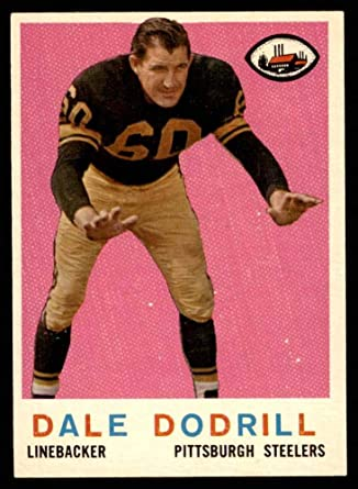 1959 Topps #34 Dale Dodrill Pittsburgh Steelers Football tarjeta