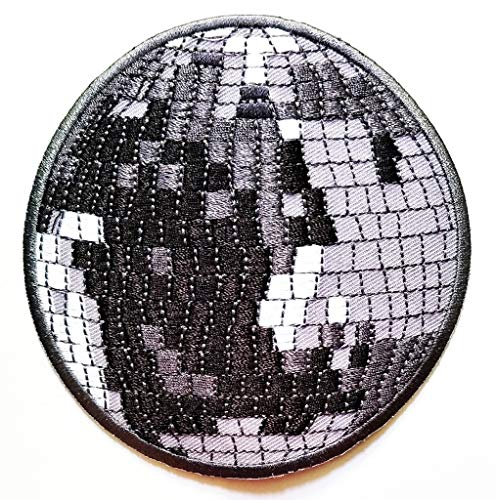 PP Patch Disco Crystal Magic Ball Light Party Music Cartoon Kids Embroidery Applique Iron-on Patch Logo Jackets Bags Jeans T-Shirt Jeans Skirt Vests Hat Embroidered Iron on Patch -