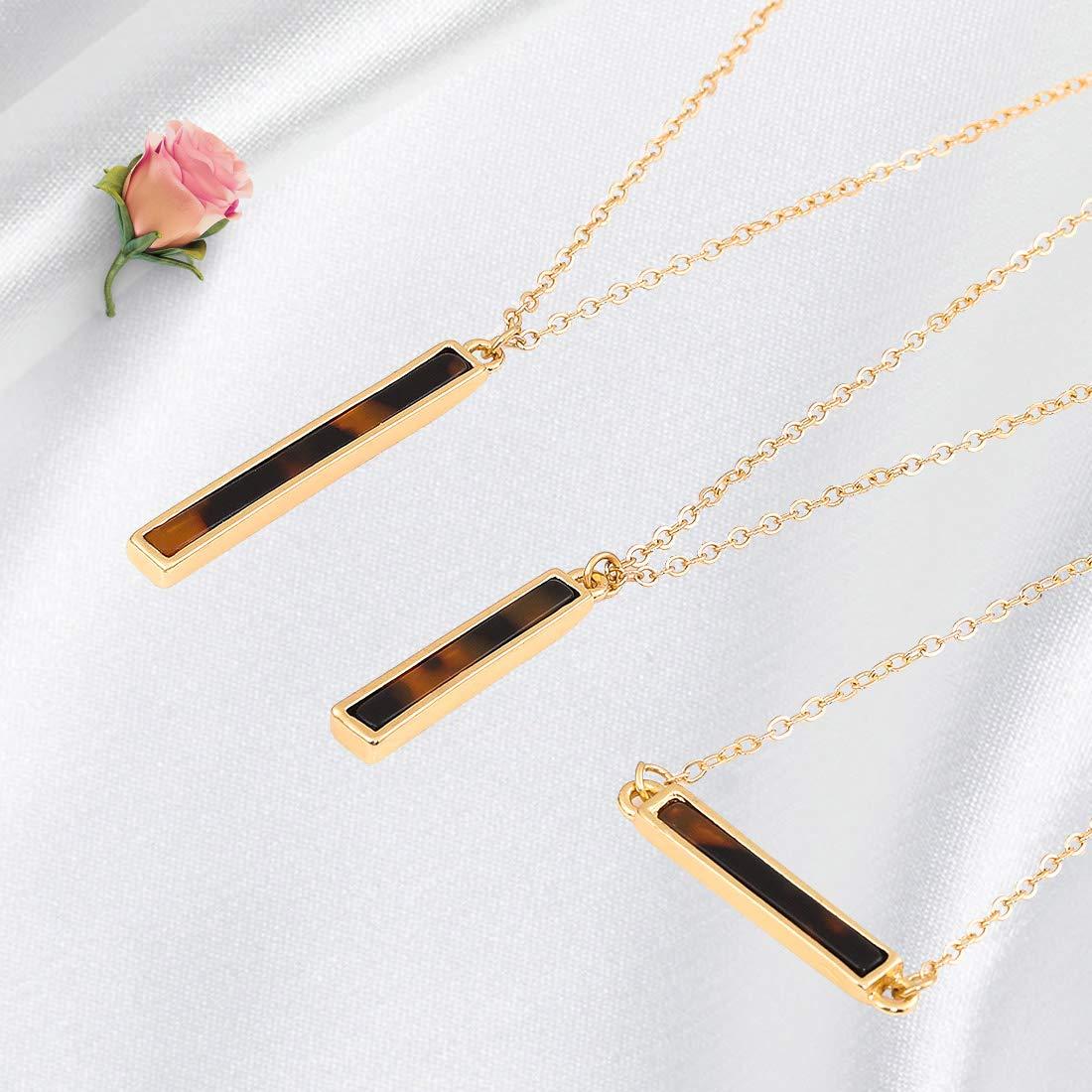 2PC Gold Boho Stick Bar Choker Necklace Minimalist Y Necklace for Women Boho Stick Bar Choker Necklace Minimalist Y Necklace for Women ALEXY Multilayer Bar Pendant Necklace