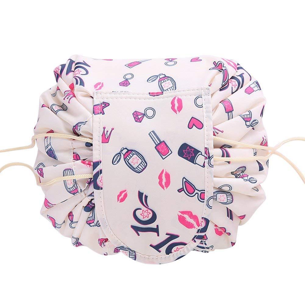 1pezzi Lazy coulisse borsa per il trucco con grande capacità Portable organizer portaoggetti per donne e ragazze viaggio cosmetici sacchetto JIANGYE