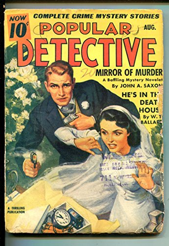 (POPULAR DETECTIVE 08/1941-THRILLING-BRIDE-WEDDING-TIME BOMB-vg)