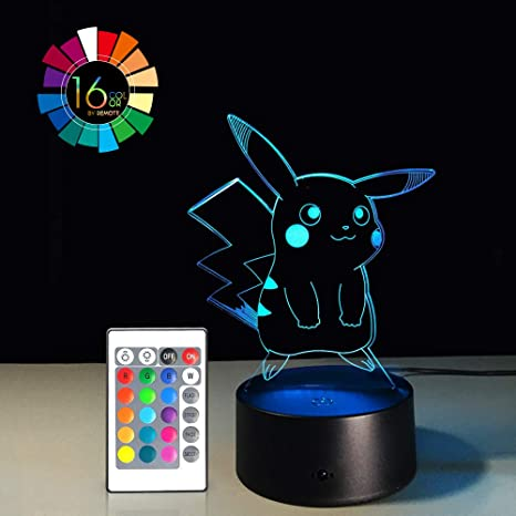 Amazon.com: Pokemon 3d luz nocturna Smart Touch 7 colores 3D ...