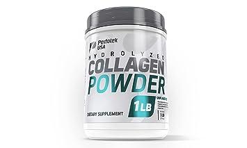 2c59220244df4 Perfotek USA Collagen Powder Peptides 16oz Unflavored Hydrolyzed Collagen  Grass-Fed Non-GMO...