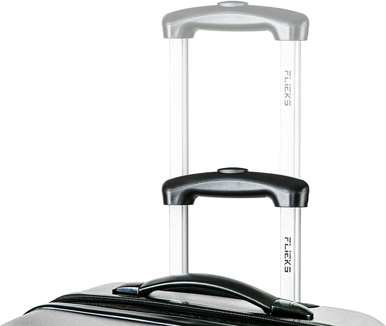 Flieks Hartschale Trolley Koffer Reisekoffer mit Zahlenschloss Handgep/äck mit 4 Rollen M, Silber XL-L-M