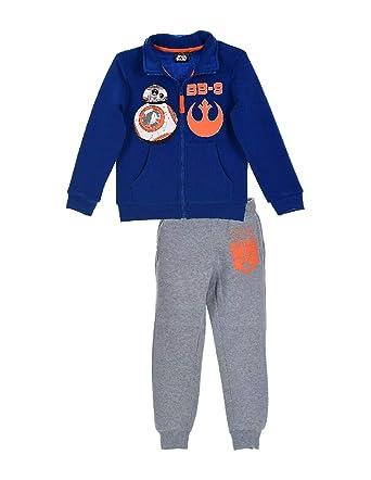 Star Wars Chándal - para niño azul/gris 8 años: Amazon.es: Ropa y ...
