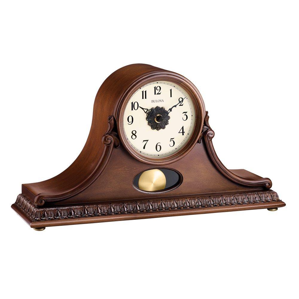 Bulova Hyde Park Mantel Clock, Cherry