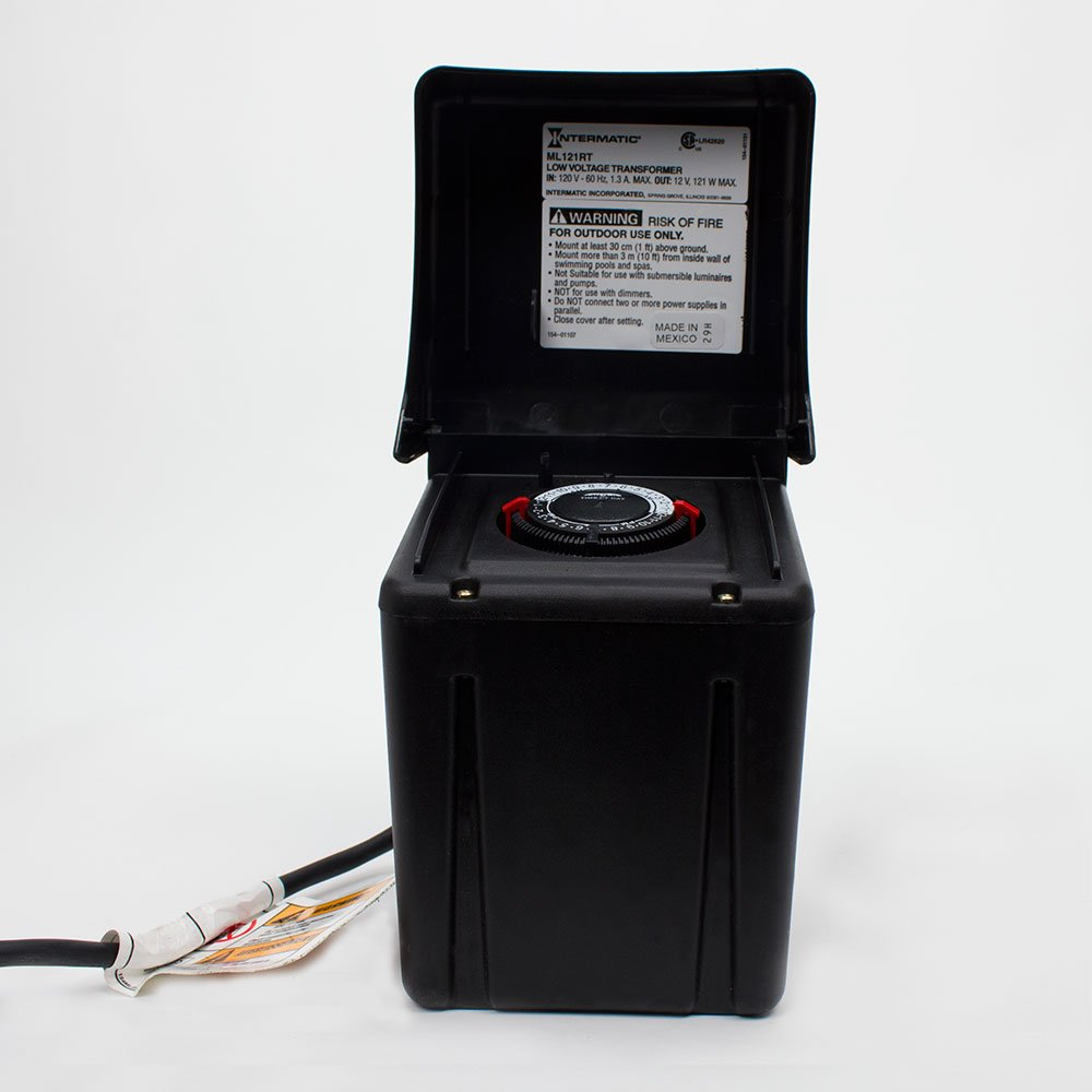 Intermatic ML121RT Low Voltage 121-Watt Power Pack with Timer, Black -  Landscape Lighting Transformers - Amazon.com