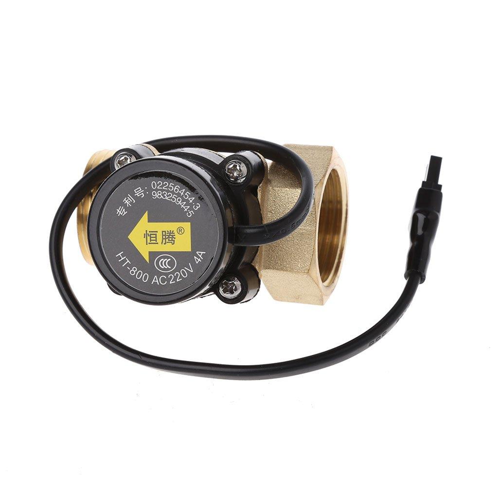 FATTERYU HT-800 1-Zoll-Durchflusssensor Wasserpumpen-Durchflussschalter Einfach anzuschlie/ßen