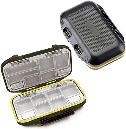 Fishing Lure Box Hooks Spoons Storage Boxes 10 Compartments Box Fishing Tack/_fr
