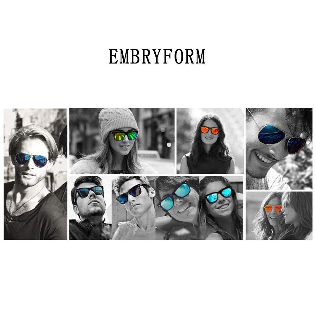 eb03eefd67 Embryform 5-Pack Occhiali da Sole Polarizzati Clip-on+1 Frame, MagClip  Montatura Occhiali da Vista con Clip da Sole Magnetiche Lenti Polarizzati