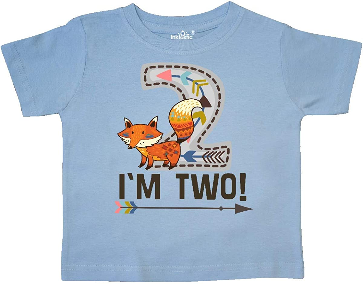inktastic 2nd Birthday Tribal Fox 2 Year Old Toddler T-Shirt