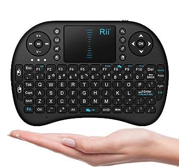 amazon com rii i8 mini 2 4ghz wireless touchpad keyboard with mouse rh amazon com