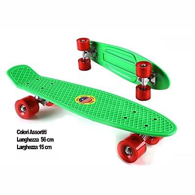 SKATEBOARD PLAST.COL.ASS.56X15 104