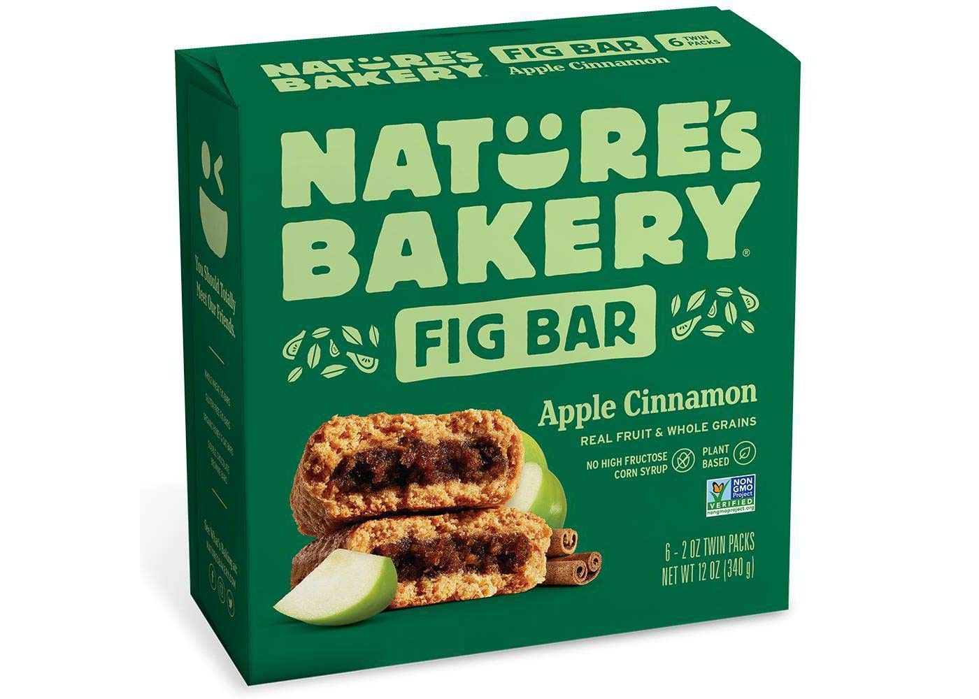 Nature's Bakery Apple Cinnamon Real Fruit, Whole Grain Fig Bar - 6 ct. (12 oz.) by Nature's Bakery FB
