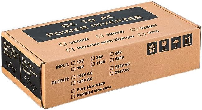 Sug 2500w (Pico 5000w) inversor 12v 220v Onda Pura inversor de ...