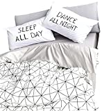 ORoa Lightweight Cotton Twin Duvet Cover Sets Kids Boys Girls 3 Piece Reversible Plaid Home Textile Geometric Teen Bedding Sets Twin Pillow Shams, Style 4