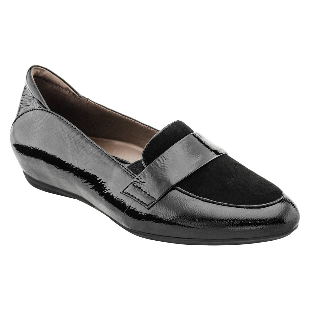 Earth Earthies Women's Bremen: flat (Patent Leather/Black, 8)