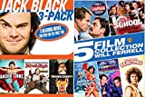 Will Ferrel & Jack Black Collection Comedy DVD set Old School + Semi-Pro & Blades of Glory / School of Rock / Nacho Libre 8 Movies