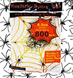 """Toys : 8.5 oz Super Stretch Spider Web (Stretch to 800 Square Feet) with 72 Pack 1.5"""" Plastic Spiders by Spooktacular Creations"""