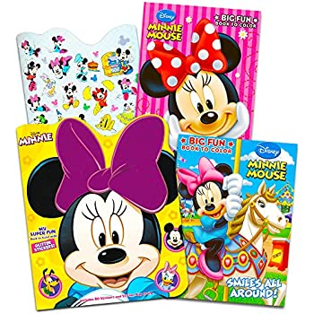 Disney Minnie Mouse Coloring Book Set With Stickers 2 Deluxe Books And Over 150