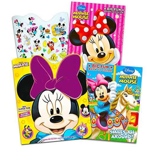 Daisy Jumbo (Disney Minnie Mouse Coloring Book Set -- 3 Jumbo Coloring Books with Stickers (Party Supplies Pack))