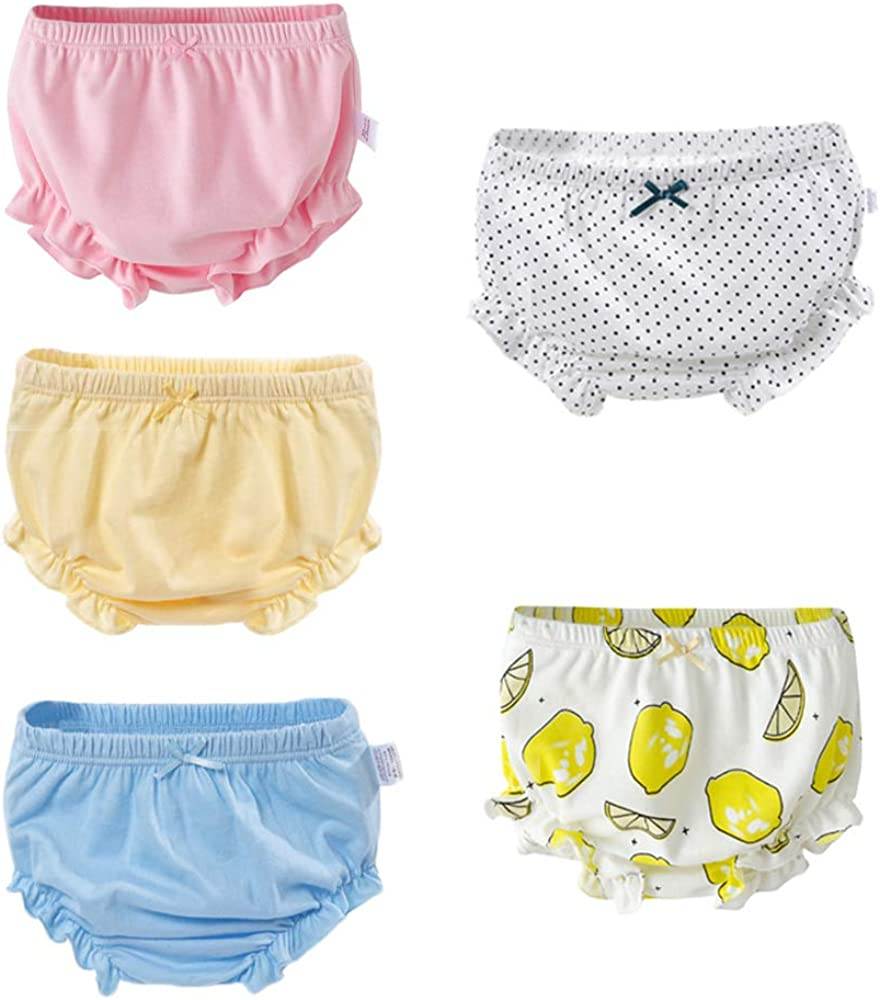 YANN Baby Girls 100/% Cotton Underwear Reusable,Breathable and Soft,Toddler Kids Potty Panties