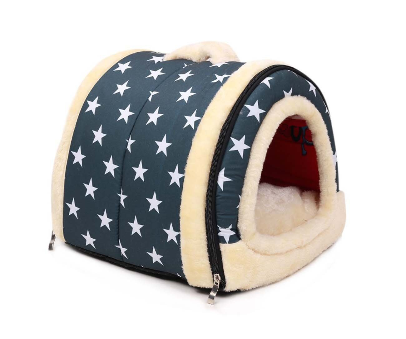 bluee SmallBlack Manba Cozy 2in1 Pet House And Sofa NonSlip Dog Cat Beds,Home Handbag Shape Washable Puppy Indoor Portable Foldable Dog Room Cat Bed, Warm House With A Removable Cushion Prep