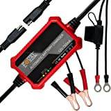Foval 750mA Automatic Trickle Battery Charger 12V 0.75Amp Smart Battery Charger for Car Motorcycle Lawn Mower SLA AGM…