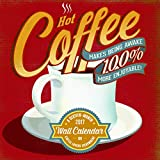 "Trends International 2017 Wall Calendar, September 2016 - December 2017, 11.5"" x 11.5"", Coffee Addiction By Cory Steffen"