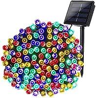 Qedertek Luci Solare 22M 200 LED Colorate/Blu/Bianca
