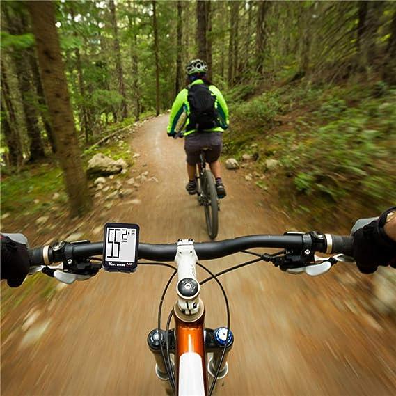 SM SunniMix Bicicleta Inal/ámbrica Ciclismo Computadora Cuentakil/ómetros Veloc/ímetro Luz de Fondo Impermeable
