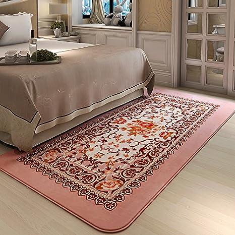 zem-pxd sala de estar mesa de café alfombra rectangular dormitorio jardín japonés y coreano de la alfombra lavable (cama manta: Amazon.es: Hogar