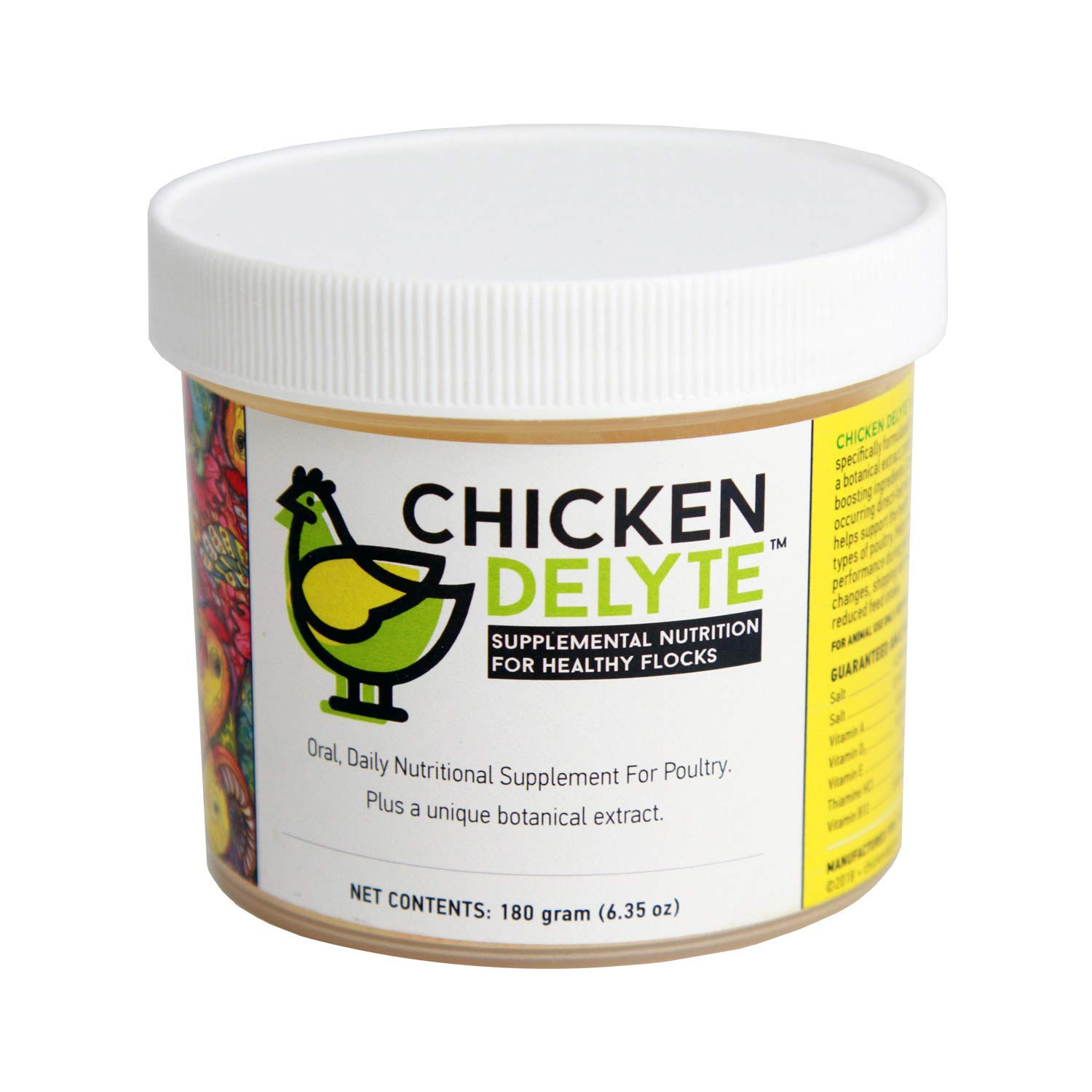 Chicken Delyte Natural Daily Oral Nutritional Supplement for Chickens, Turkeys, Ducks; Supports Immune System & Promotes Better Egg Quality; Maintains Normal Appetite & Digestion during Stress by Chicken DeLyte
