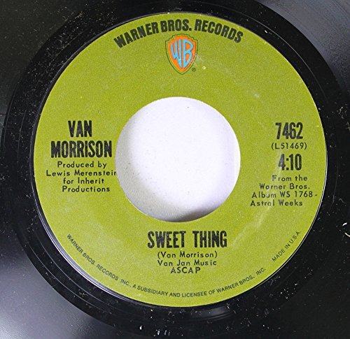 Van Morrison 45 RPM Sweet Thing / Blue Money
