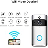 WiFi Doorbell, Smart IP Camera Doorbell Motion Detection Night Vision Two-Way Audio Remote-Control Security Camera Wireless Doorbell (F1)