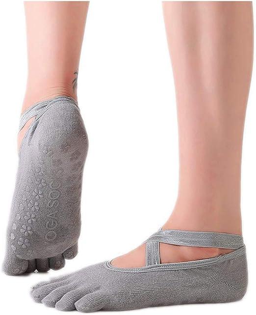 GKJ Yoga Socken Für Frauen rutschfeste Haftsocken Ohne