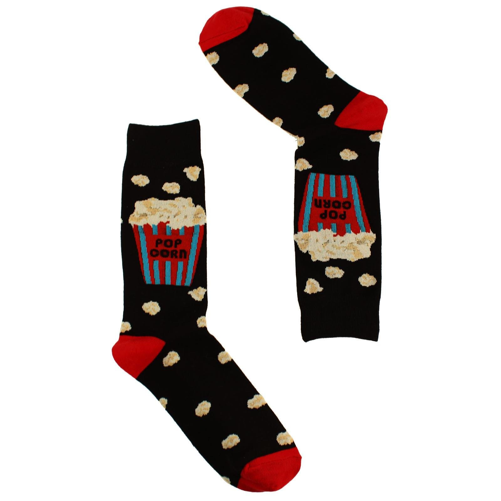 Men's Everday Novelty Fast Foods Comfort Foods Trouser Dressy Casual Comfy Socks Movie Popcorn by SK Hat shop (Image #1)
