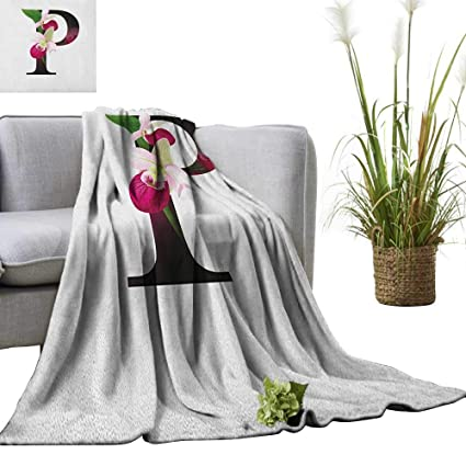Amazon.com: Letter P Weave Pattern Extra Long Blanket Lady ...