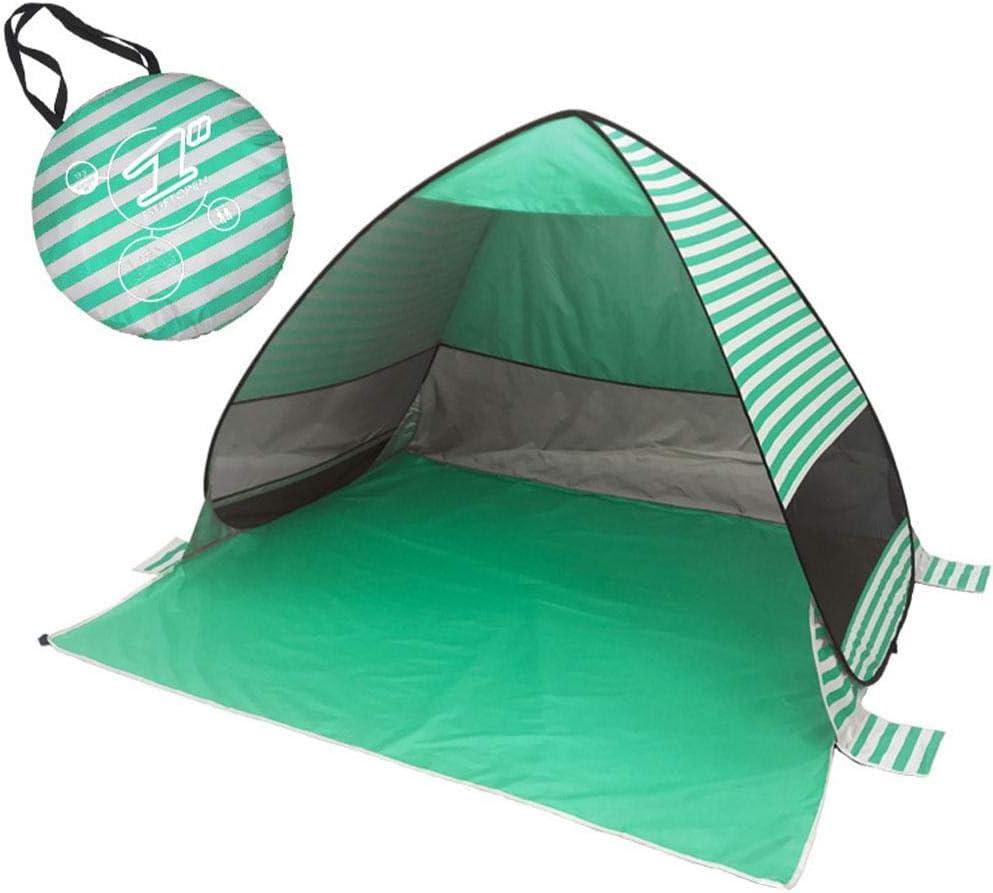 Protecci/ón Solar para Parque Acampar Al Aire Libre Vacaciones en la Playa Pop Up Tienda De Playa 2-3 Personas Port/átil Tiendas instant/áneas Autom/ática Tiendas de Campa/ña Anti-UV 50