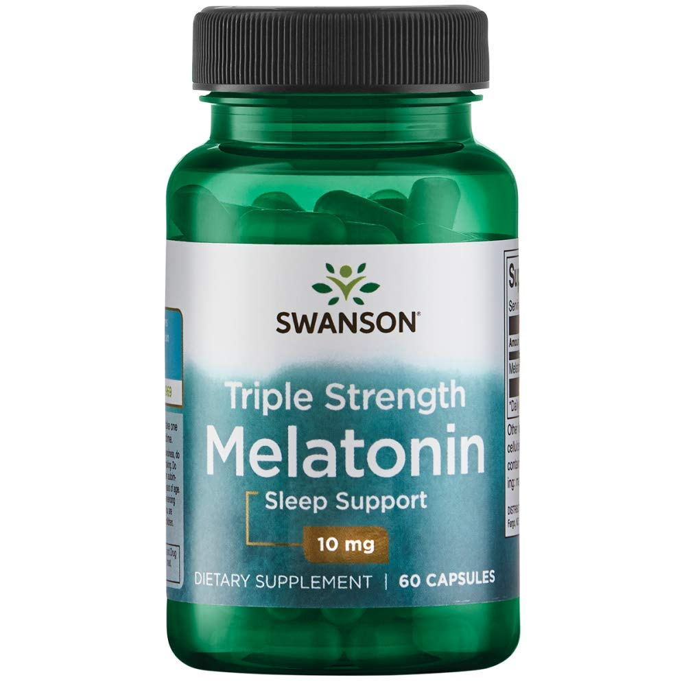 Swanson Triple Strength Melatonin 10 Milligrams 60 Capsules