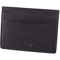RFID Genuine Leather Slim Men's Credit Card Wallet Notes Black Slimline